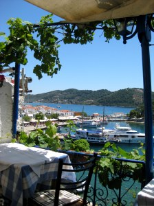 View from Seleni's Taverna, Old Port, Skiathos
