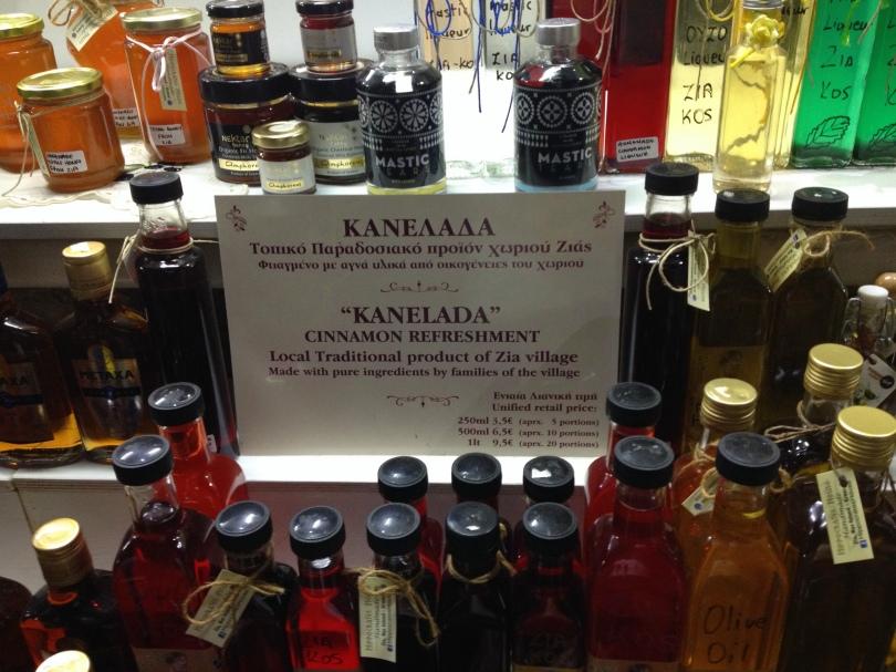 Kanelada on sale in Zia village, Kos