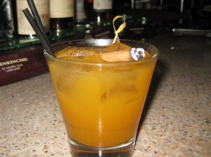 Posh pumpkin and cinnamon cocktail at the More|Meni Bar, Tigaki