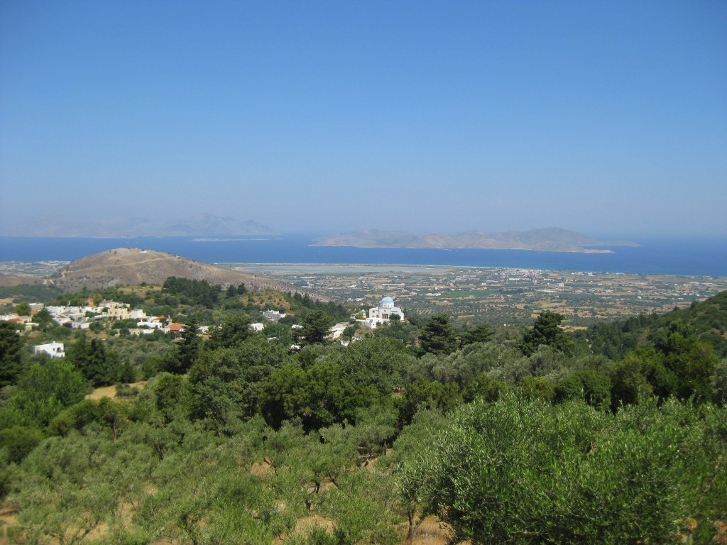 View of Tigaki from Zia, Kos