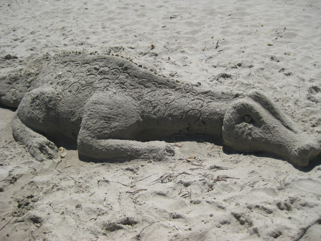 Sand sculpture, Marmari beach, Kos