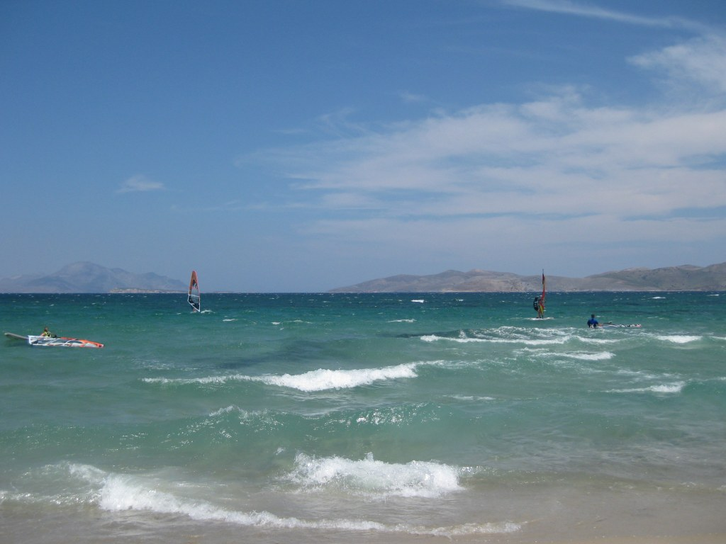 Windsurfers off Marmari beach, Kos