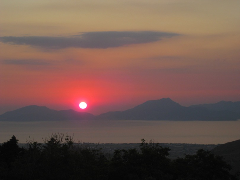 Sunset viewed from Zia