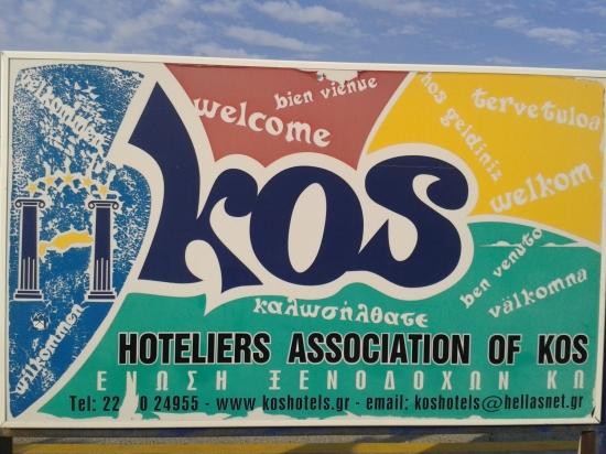 Sign at Kos International airport