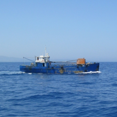 A boat on the way to Kalymnos