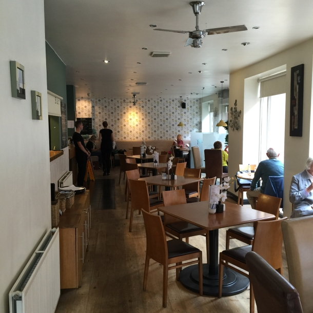 This is pretty much the full extent of this eatery - there's some soft seating (where Siggy is hidden) around the corner of the bar
